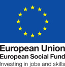 Eurupean Union Social fund jobs and skills logo