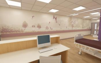 3D Drawing Theatres Recovery Area - Phase One Adult Reception