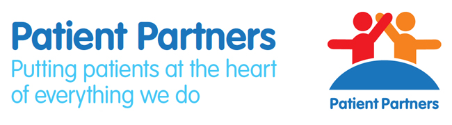 Patient Partners - Heading Text and logo image