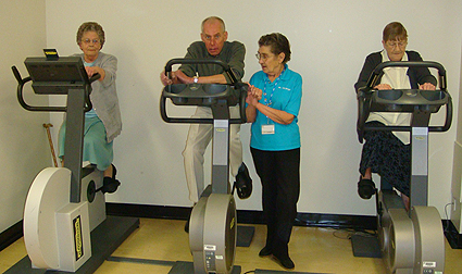 Patients On Exercise Bikes