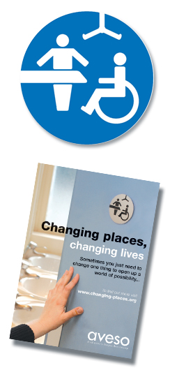 Changing places toilets image and logo
