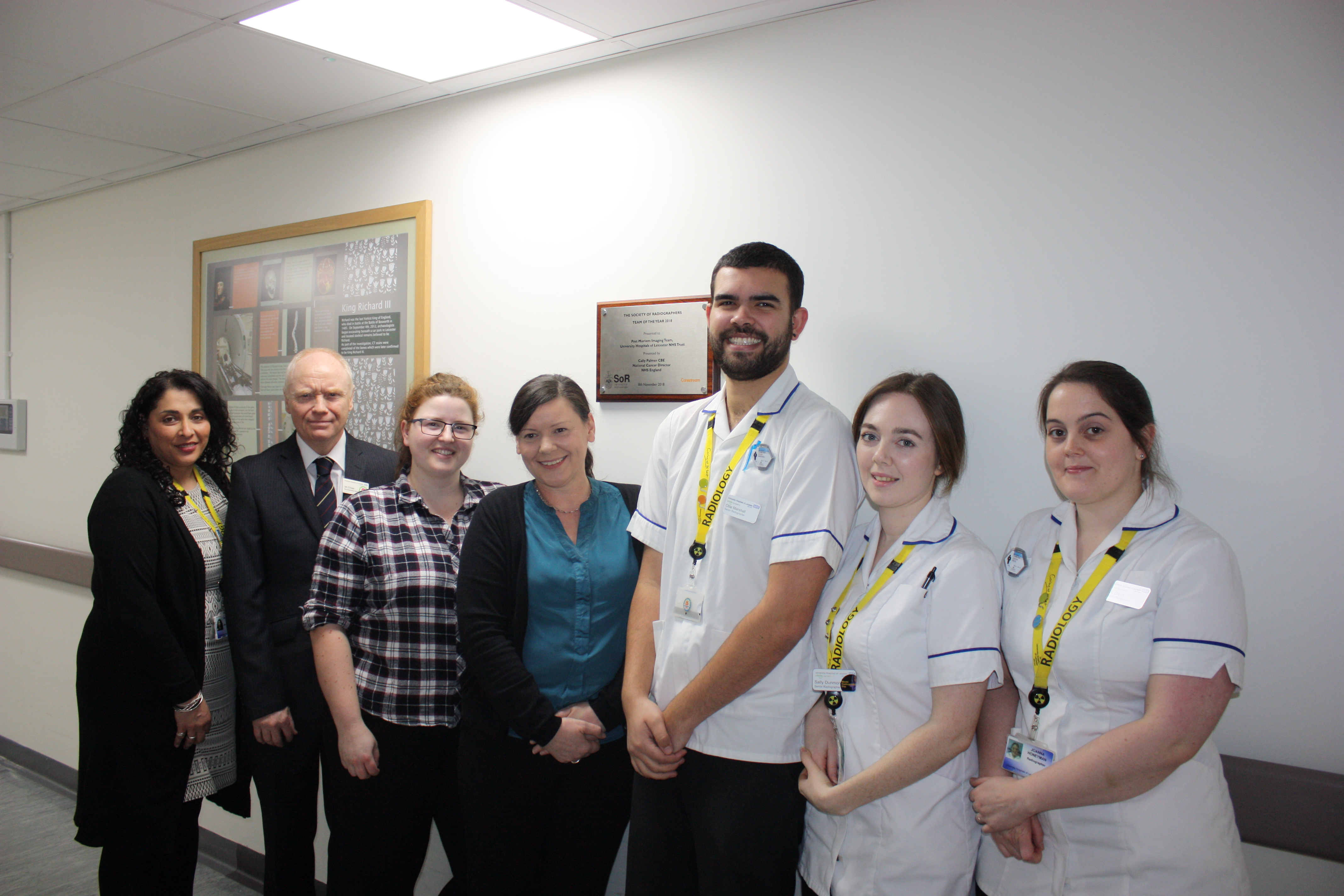 Radiographers recognised as team of the year