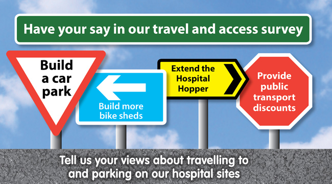 Have your say - Travel and access survey banner
