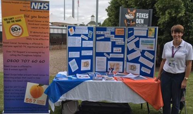 Improving Bowel Cancer Awareness stand event
