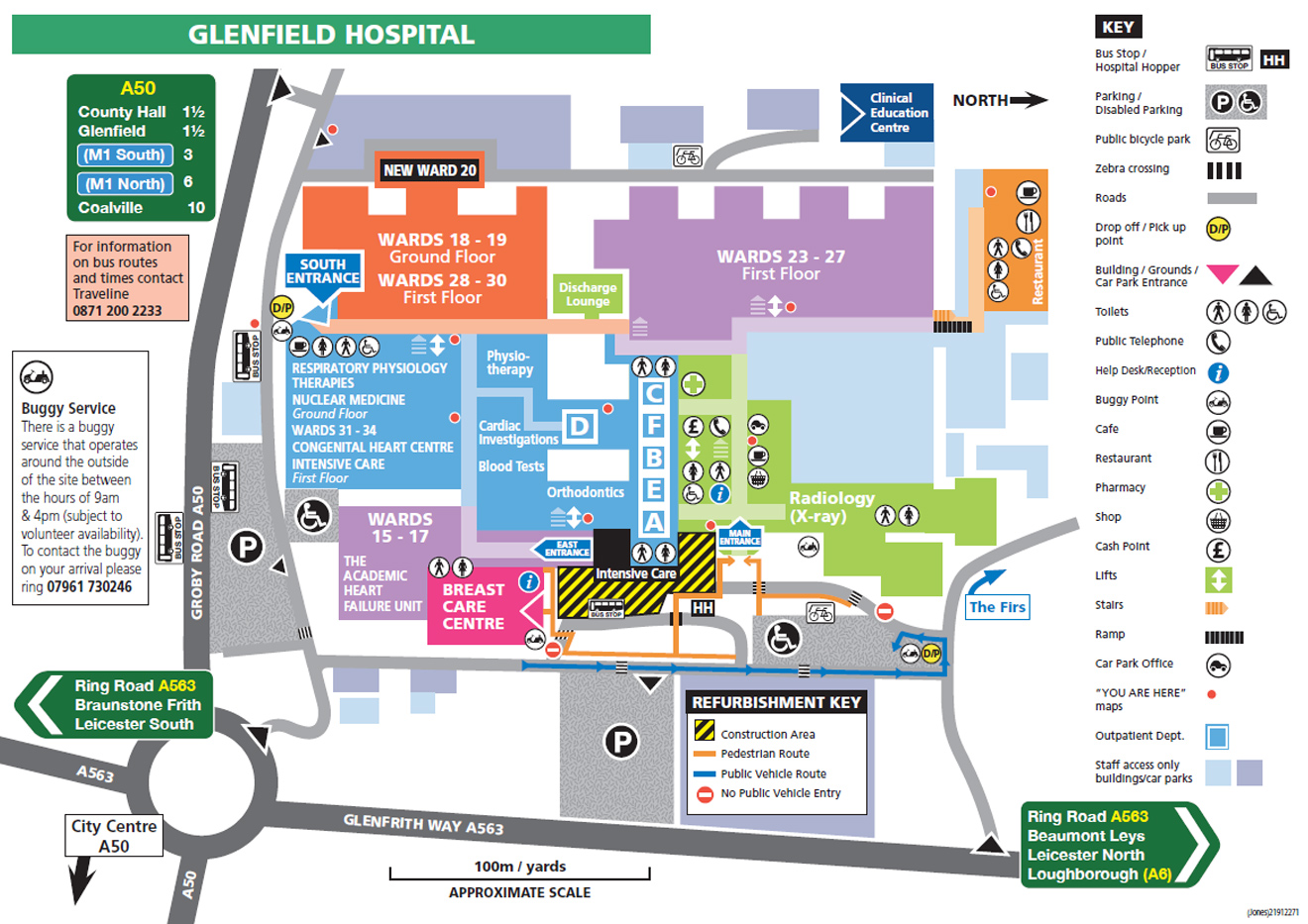 Nottingham City Hospital Map Travelling to the Glenfield Hospital