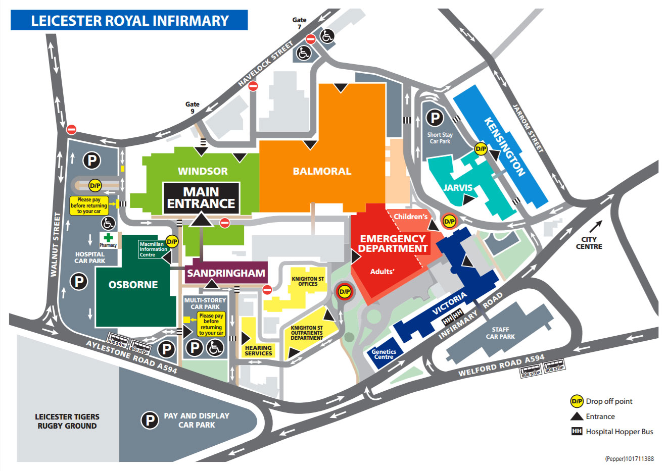 Leicester Royal Infirmary Map